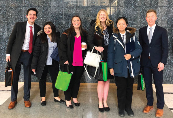 The final stop of the day for the Private Practice Career Trek group was at the office building of Jenner & Block.