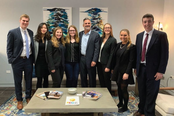 Notre Dame students visit Irwin IP at the first stop of their Patent Law Career Trek.