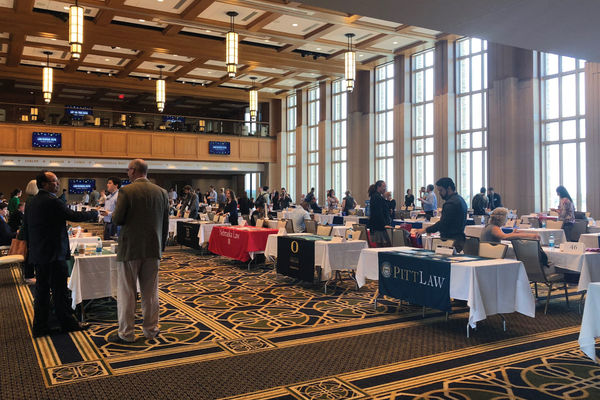 Law schools from all over the country lined up in the Dahnke Ballroom on September 25 for the Law School Fair.