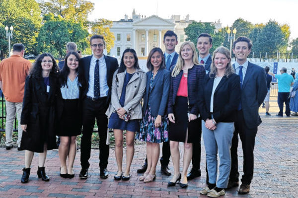 Students of the 2019 Trek visit the White House during their time in Washington D.C.