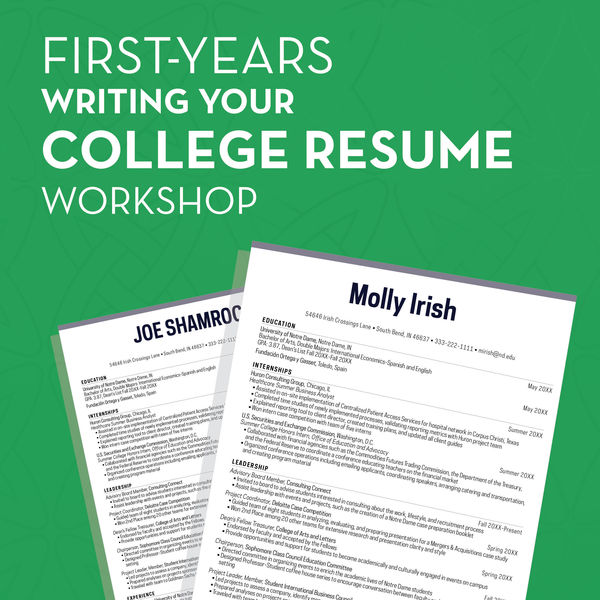 Firstyearsresume 01